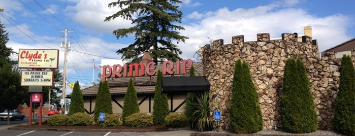 Clyde's Prime Rib is one of PDX.