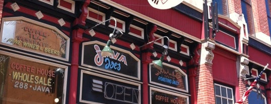 Java Joes Coffee House is one of Drew's favorites.