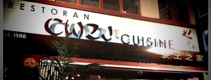 CWZJ Cuisine (茶王之家) is one of Luxury Food.
