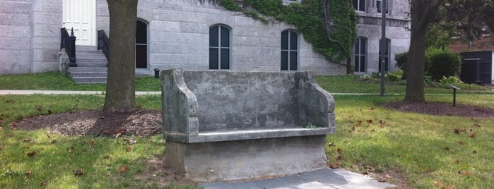 The Kissing Bench is one of 44 Things at Syracuse University.