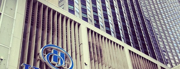 Hilton is one of Stay Cool: NYC's Best Places for Air-Conditioning.