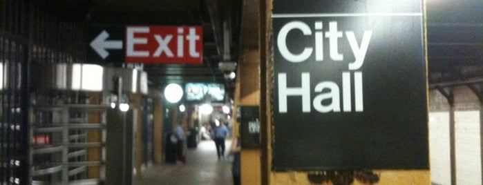 MTA Subway - City Hall (R/W) is one of Trainspotter Badge.