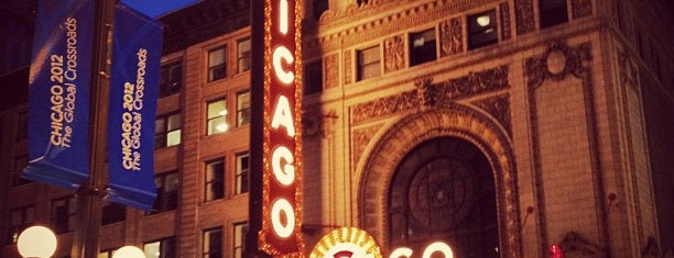 The Chicago Theatre is one of Chicago, IL.
