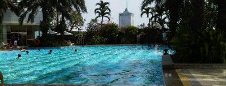 Poolside - Hotel Mulia Senayan, Jakarta is one of J-Town.