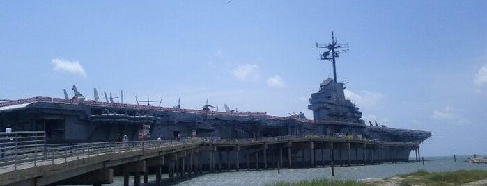 Beach by the USS Lexington is one of Lugares favoritos de Sharon.