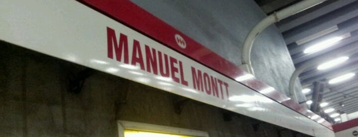 Metro Manuel Montt is one of Lieux qui ont plu à Nicole.