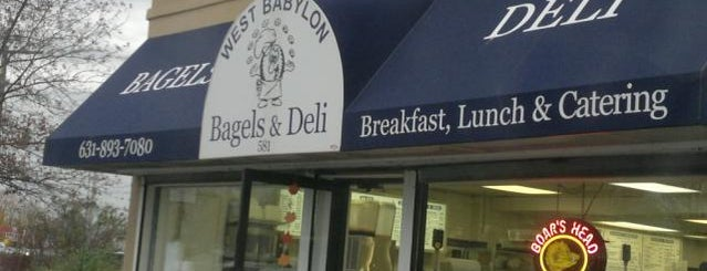 West Babylon Bagels & Deli is one of Lugares favoritos de Merissa.