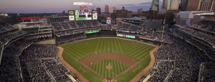 Target Field is one of Faves DSM, MPLS, Omaha.