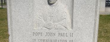 Pope John Paul II Marker is one of IWalked Boston's Public Art (Self-guided Tour).