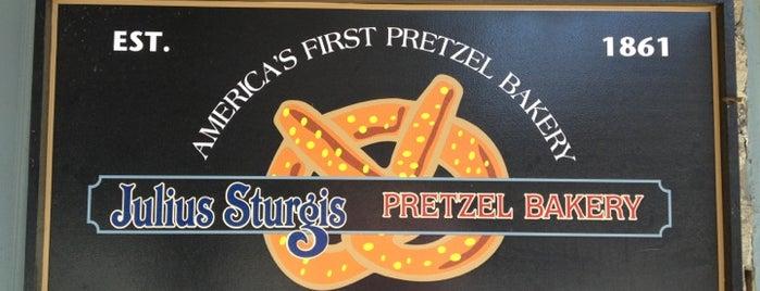 Julius Sturgis Pretzel Bakery is one of Posti che sono piaciuti a Michael.