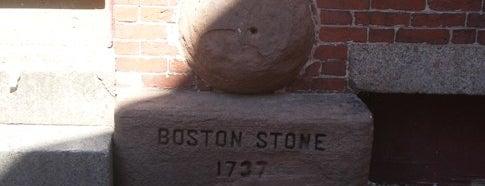 Boston Stone is one of Beantown.
