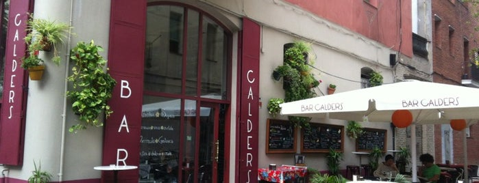 Bar Calders is one of tapas.