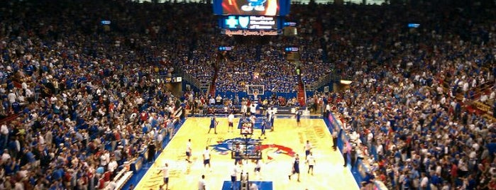 "Allen Fieldhouse is one of Kansas City + Lawrence ""Musts""."