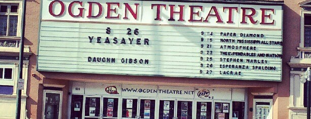 Ogden Theatre is one of Denver-To-Do List.