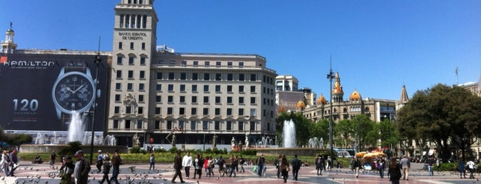 Plaça de Catalunya is one of Barcelona, baby!.
