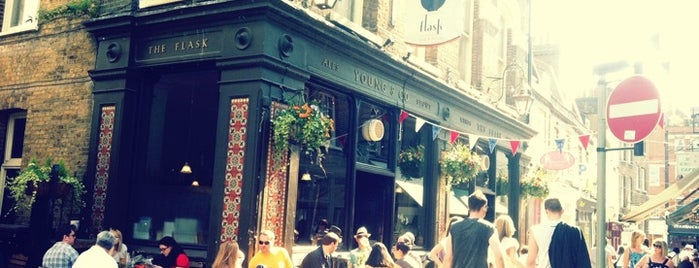 The Flask is one of London pubs.
