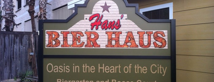 Hans' Bier Haus is one of Bars to try.