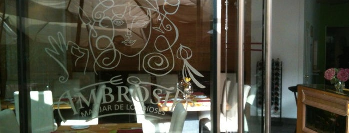 Restaurant Ambrosia is one of Descuento banco security.