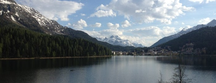 St. Moritzersee / Lake St. Moritz is one of Lugares favoritos de Hemera.