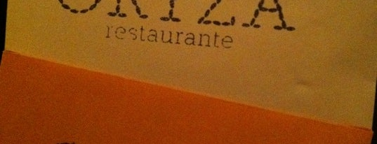 ORYZA Restaurante is one of Restaurantes.