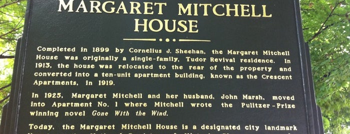 Margaret Mitchell House is one of At Atlanta.