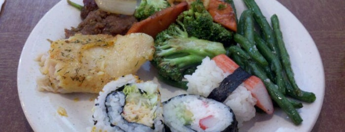 Asian Buffet Grill & Sushi is one of 寿司.