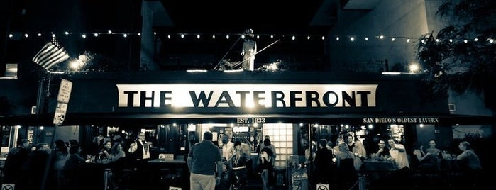 The Waterfront Bar & Grill is one of Favorite Haunts Insane Diego.