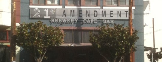 21st Amendment Brewery & Restaurant is one of SF burger joints.