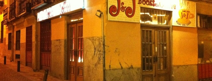 J&J Books and Coffee is one of Malasaña Afterworks & Rest.