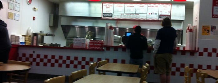 Five Guys is one of check ins.