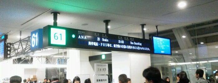 Gate 61 is one of 羽田空港 第2ターミナル 搭乗口 HND terminal2 gate.