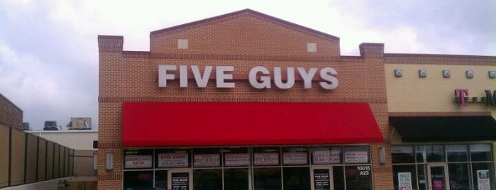 Five Guys is one of Gluten Free menus.