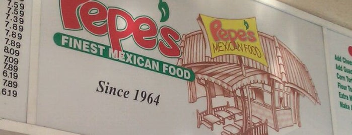 Pepe's Mexican Food is one of Posti salvati di Christopher.