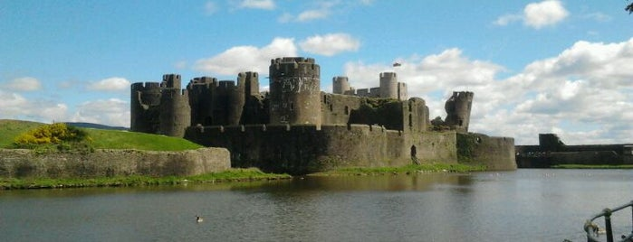 Caerphilly Castle is one of Local's Guide to Cardiff.