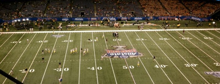 Mercedes-Benz Superdome is one of Favorite affordable date spots.