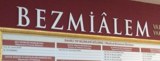 Bezmialem Vakıf Üniversitesi Tarihi Bina is one of İstanbul'daki Üniversite ve MYO'ların Kampüsleri.