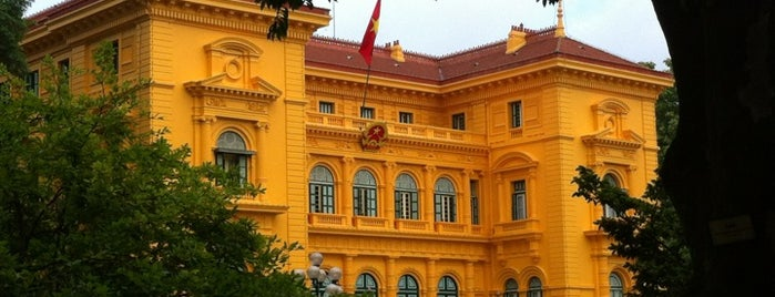 Phủ Chủ Tịch (Presidential Palace) is one of Hanoi Faves.