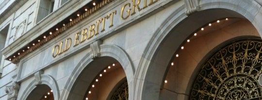 Old Ebbitt Grill is one of South & SW Old-Timey Bars, Cafes, and Restaurants.