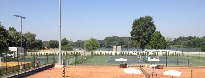 Teniski centar Novak is one of Belgrad.