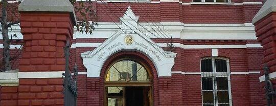 Liceo Manuel Barros Borgoño is one of Monumentos Nacionales.