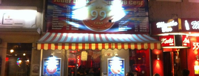 99 Cent Bar is one of To-Do-Hamburg.