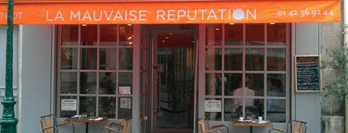 La Mauvaise Réputation is one of Mes restaurants favoris à Paris 1/2.