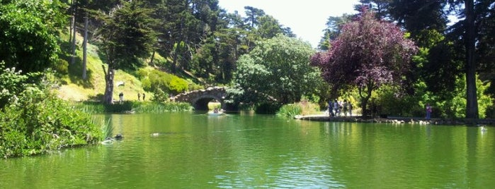 Stow Lake is one of San Francisco Bay.