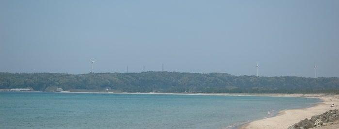 増穂浦海岸 is one of 日本の白砂青松100選.