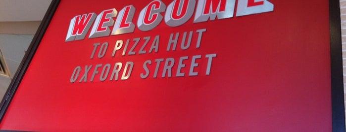 Pizza Hut is one of Free Wi-Fi spots in London.