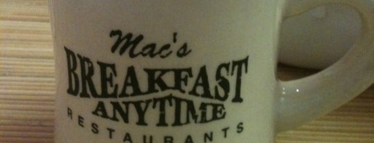 Mac's Breakfast Anytime is one of Peter : понравившиеся места.