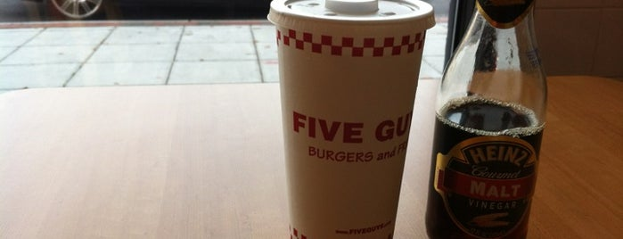 Five Guys is one of Kia's Liked Places.