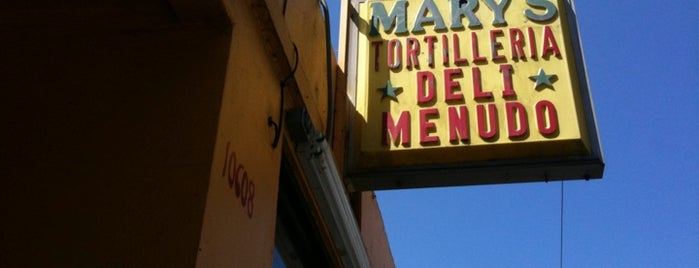 Mary's Tortilleria & Deli is one of Places to eat in SoCal.
