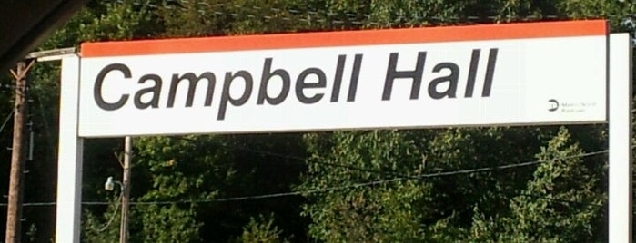 Metro North / NJT - Campbell Hall Station (MBPJ) is one of New Jersey Transit Train Stations.