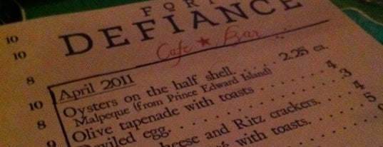 Fort Defiance is one of Food.